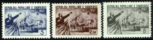 Albania #516-18  MNH - Russian Revolution (1957)