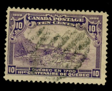 Canada #101 Used F-VF Sht perf Cat$125