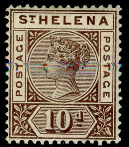 ST. HELENA SG52, 10d brown, M MINT. Cat £25.