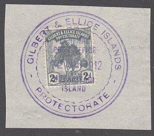 GILBERT & ELLICE IS Pandanus 2d on 1912 piece huge BUTARITARI cds..........29965