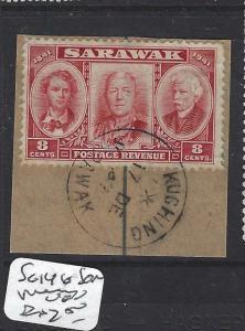 SARAWAK  (P2601B)  SG 146 8C SON PIECE CDS   VFU