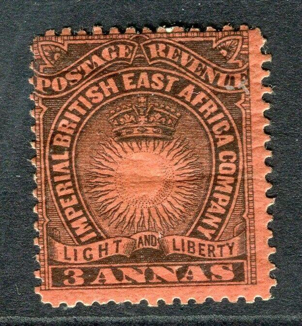 BRITISH EAST AFRICA Co. 1890 early classic issue Mint hinged 3a. value