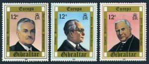 Gibraltar 390-392 two sets, MNH. EUROPA CEPT-1980. Basarisas, Mackintoch, Amigo.