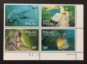 Palau 1992 #313 Block of 4, Fauna, MNH.