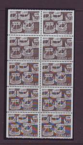 Sweden Sc810a 1969 Nordic Coop stamp bklt pane NH