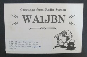 6229 Amateur Radio QSL Card New Britain USA