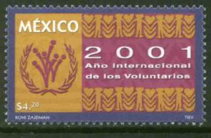 MEXICO 2231, International Volunteers Year. MINT, NH. F-VF.
