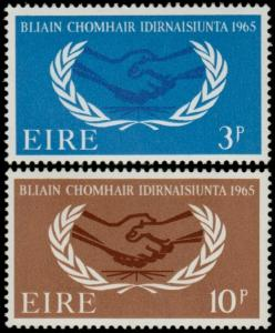 ✔️ IRELAND 1965 - ICY INT. COOPERATION YEAR - SC. 202/203 MNH OG [IR0174]