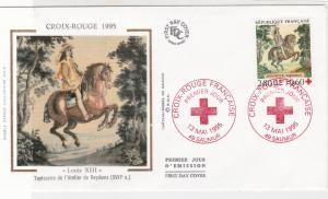 France 1995 Red Cross Slogan Cancels Louis Xlll Picture + Stamp FDCCover Rf31646