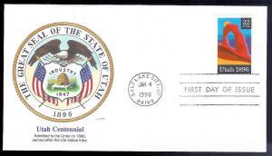 UNITED STATES FDC 32c Utah 1996 Fleetwood