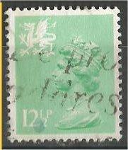 GREAT BRITAIN, WALES, Machins, 1984, used 121/2p lt emer, Scott WMMH20