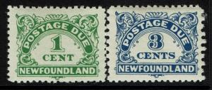 Newfoundland SG# D1 & D3a, Mint Never Hinged, Minor toning -  Lot 022617