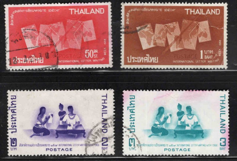 THAILAND Scott 452-455 Used 1966 Letter Writing set note a few wrinkles set
