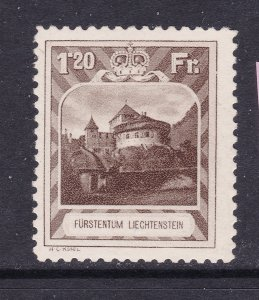 Liechtenstein the 1Fr20 MH from the 1930 set