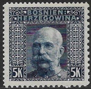 BOSNIA AND HERZEGOVINA 1906 5K FRANZ JOSEPH P.12.5x9.25x10.5x12.5  Sc 45l MNH