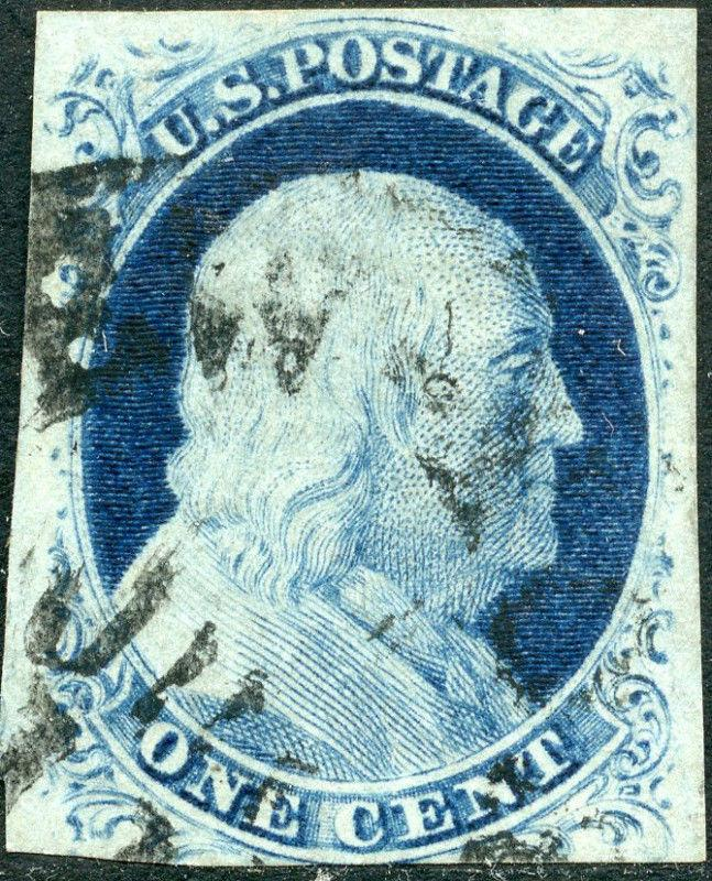 #9 USED F-VF SINGLE CV $120 BM3428
