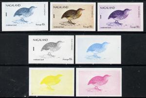 Nagaland 1974 Birds (with Scout Emblems) 10c (Quail) set ...