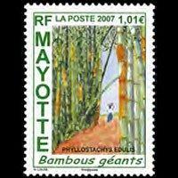 MAYOTTE 2007 - Scott# 233 Bamboos Set of 1 NH