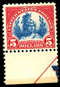 U.S. #573 MINT F-VF OG LH Cat $90