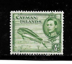 Cayman Islands Stamp- Scott # 101/A14- 1/2p- Mint/LH-1938-43-OG