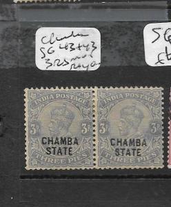 INDIA  CHAMBA (PP0102B) KGV 3P SG 43+43 3 RS VARIETY MOG