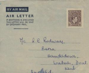 nigeria to england  stamps air letter ref r13222