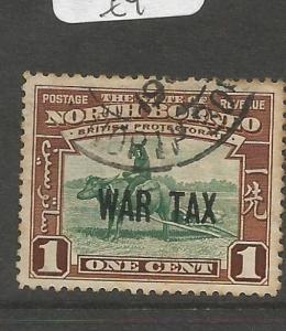 North Borneo War Tax SG 318 VFU (6chd)