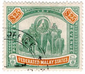 (I.B) Federated Malaya States Revenue : Duty Stamp $25