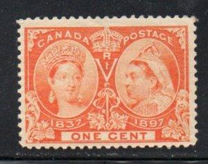 Canada Sc 51 1897 1c orange Victoria Jubilee stamp mint
