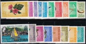 Grenada 1968-1971 SC 294-309 MNH Set Flowers Birds