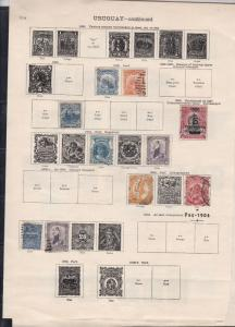 uruguay 1882-1899 stamps page ref 18215