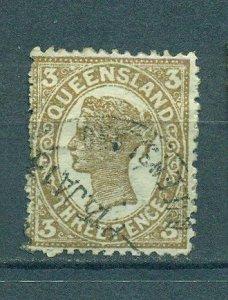 Queensland sc# 134 (2) used cat value $3.00