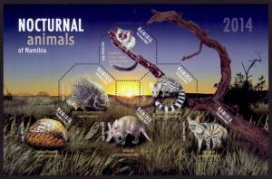 Namibia Sc# 1280 MNH Nocturnal Animals (M/S)