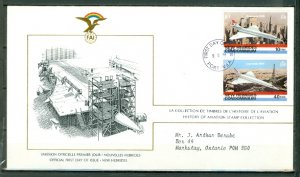 NEW HEBRIDES FRENCH...CONCORDE #274 & #277  on FDC