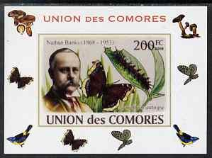 Comoro Islands 2008 Entomologists & Butterflies #1 Na...