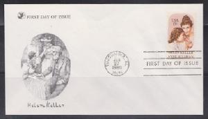 1824 Hellen Keller Unaddressed Reader's Digest FDC
