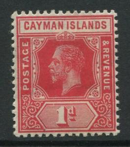 Cayman Islands - Scott 34 - KGV Definitive Issue -1912 - MLH - Single 1d Stamp