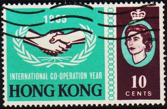 Hong Kong. 1965 10c S.G.216 Fine Used