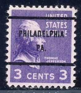 Philadelphia PA, 807-61 Bureau Precancel, 3¢ Jefferson