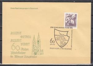 Austria, 1970 issue. 10/MAY/70. Scouts, St. George cancel on a Cachet cover. ^