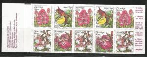 SWEDEN 2346a, MNH STAMPS, COMPLETE BOOKLET, 3 EACH #2343, 2345, 2 EACH #2344,...