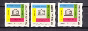 J26984 1967 afghanistan set mnh #741-3 unesco