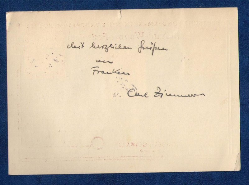 1952 Sc #687 Richard-Wagner-Festspiele-Germany Historical Post Card(3) Stamps