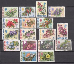 J26601 JLstamps 1970  bermuda set mlh/mh #255-71 flowers