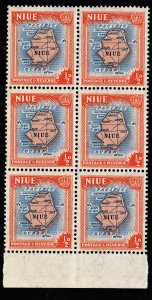 NIUE STAMP 1950 Local Motives MNH BLK OF 6