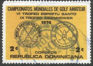 DOMINICAN REPUBLIC 729 VFU GOLF Z3726-4