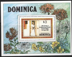DOMINICA Scott 678 MNH** 1980 Queen Mother 80th birthday mini-sheet