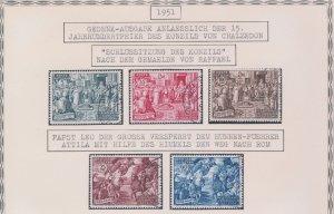 1951 Vatican,Vatican City,Series' 15° Centenary Council Di Chalcedony Rounds' N°