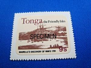 TONGA  -  SCOTT # 489  SPECIMEN  MNH      (gg)