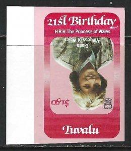 TUVALU CENTER INVERTED IMPERF. I296